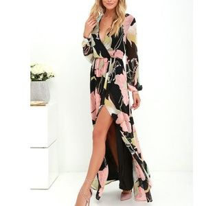 Lulu's Wondrous Water Lilies Maxi Dress